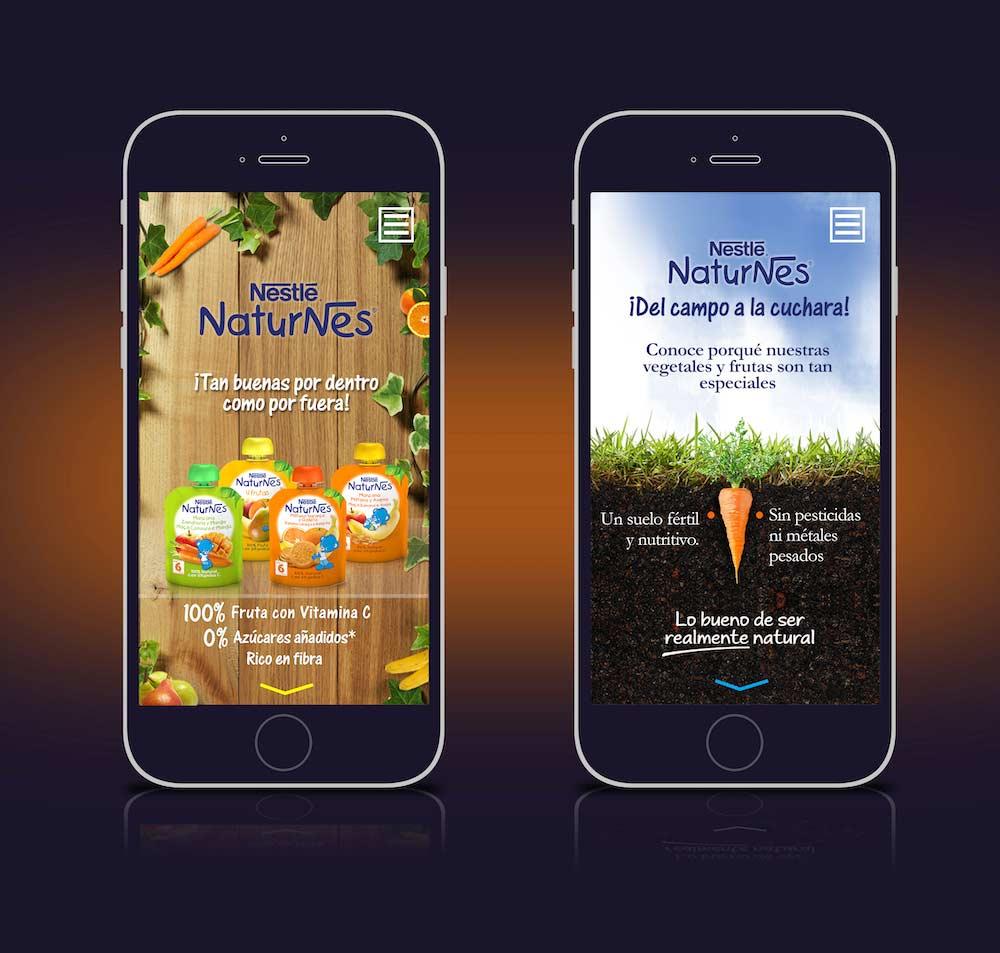 Campaign App design Nestlé-Naturnes