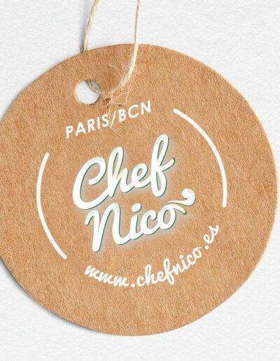 Diseñador logos chef -branding culinaria cocineros
